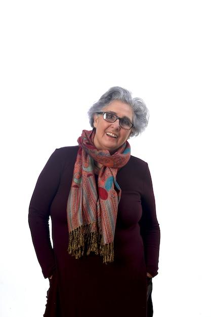 年配の女性の肖像画 Premium写真
