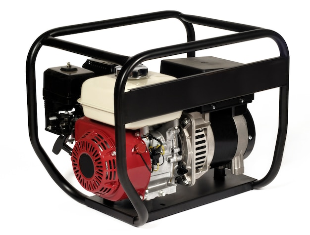 Портативный генератор энергии (бензин) Premium Фотографии