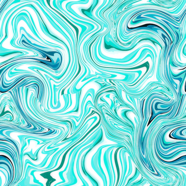 Синий бесшовный мраморный узор Premium Фотографии