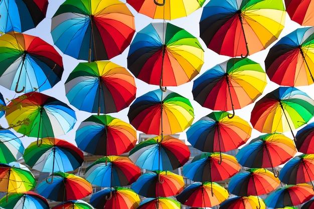 傘ストリートデコレーション Premium写真