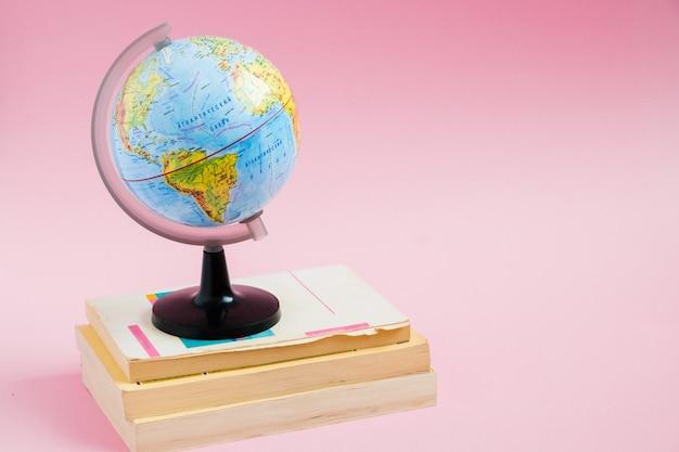 ピンクのグローブモデルの本 Premium写真