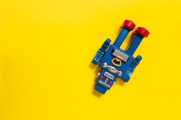ビンテージブリキロボット玩具 Premium写真