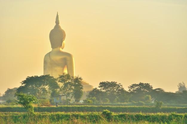 Золотой будда таиланд Premium Фотографии