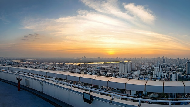 Бангкок город вид с высоты Premium Фотографии