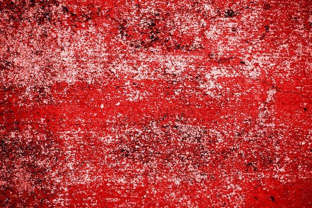 グランジ赤セメント壁テクスチャ Premium写真