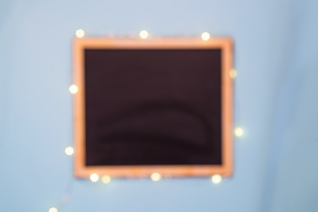 Меню шаблона слайдовой доски на синем фоне бумаги, квартира Premium Фотографии