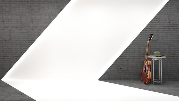 ブルーススタイルとエレキギター Premium写真