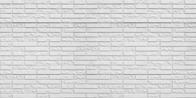 抽象的な白いレンガの壁のテクスチャ背景。 Premium写真