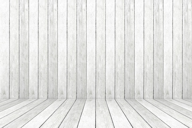 空のビンテージグレー木造の部屋、背景、バナー、インテリアデザイン、製品表示モンタージュ、背景のモック Premium写真