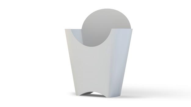 空白のフライドポテトボックス Premium写真