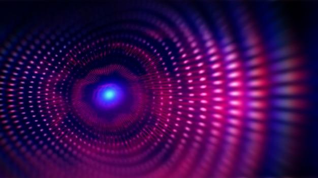 Волновые точки фрактальной сетки. Premium Фотографии