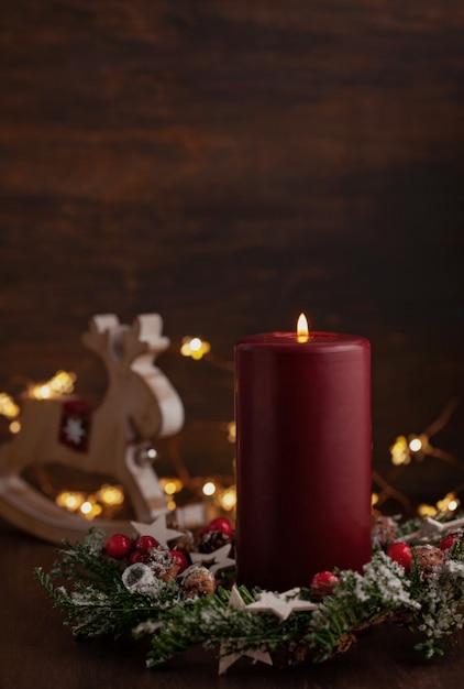 Праздничные рождественские старинные украшения. Premium Фотографии