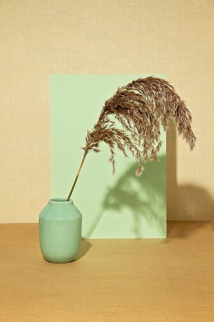 パステルカラーの秋の植物の背景。 Premium写真