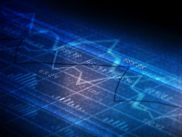 Финансовые графики и диаграммы Premium Фотографии