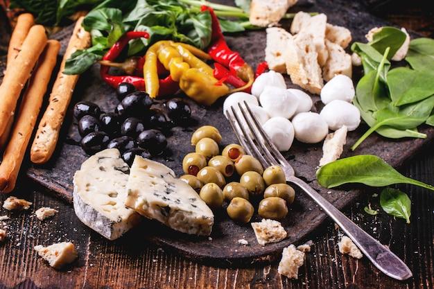 Итальянские пищевые ингредиенты Premium Фотографии