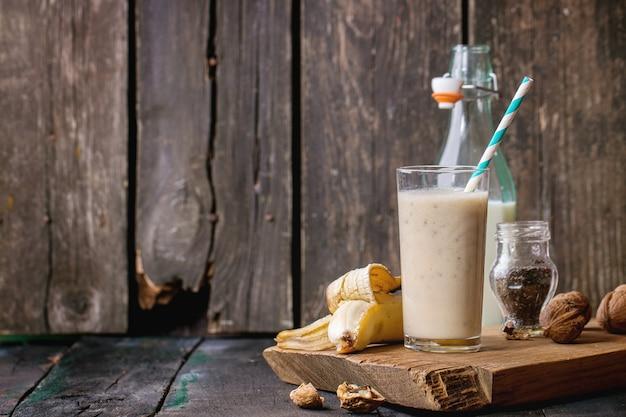 ミルクバナナスムージー Premium写真