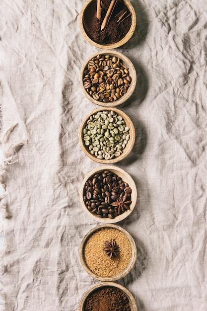 様々なコーヒー豆 Premium写真