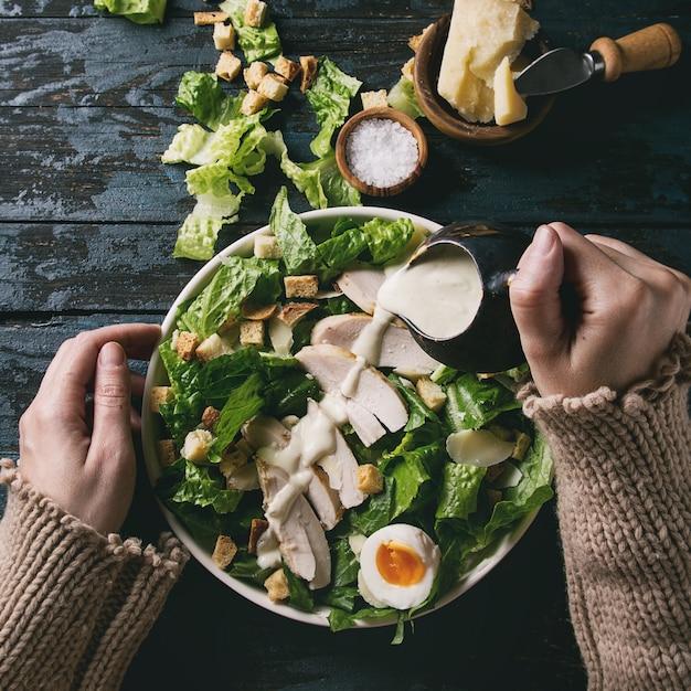クラシックシーザーサラダ Premium写真