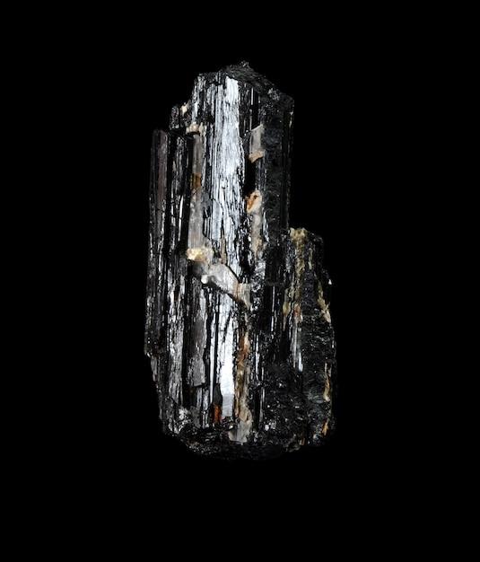Грубый черный турмалин Premium Фотографии