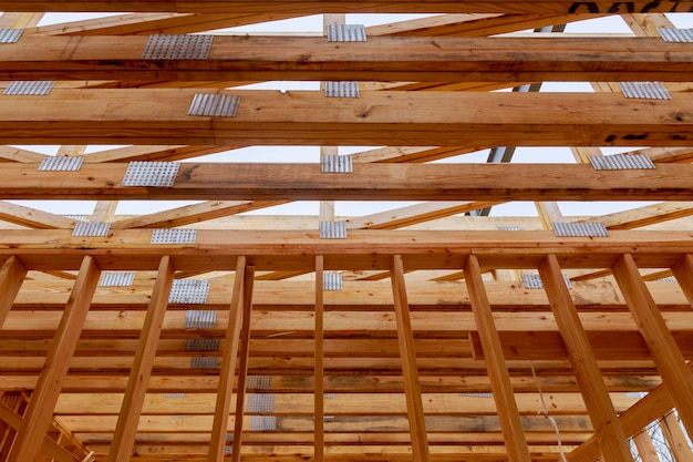деревянный каркас дома полный каркас кровельные работы