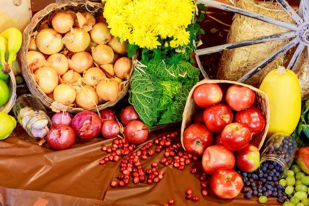 感謝祭の日の秋の静物 Premium写真