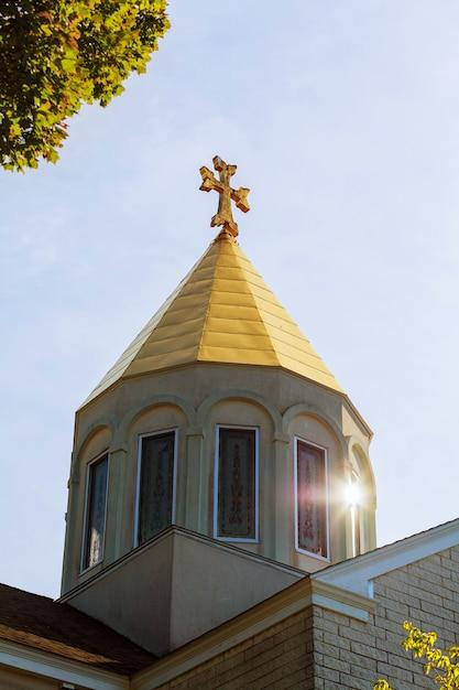 使徒アルメニア教会の十字架の空 Premium写真