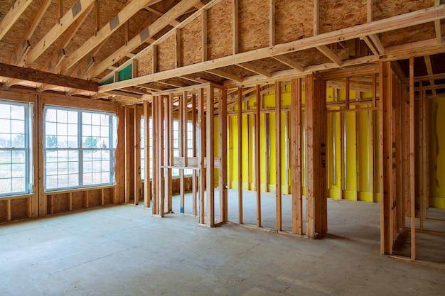 フレーム付きの建物または基本的な住宅 Premium写真