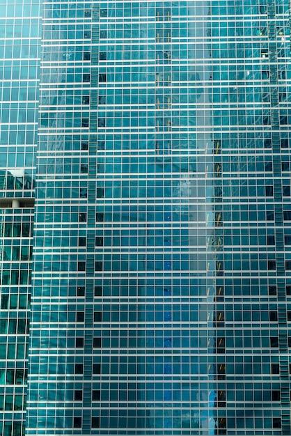 市内中心部、モダンな建物、ガラスの高層ビル、 Premium写真