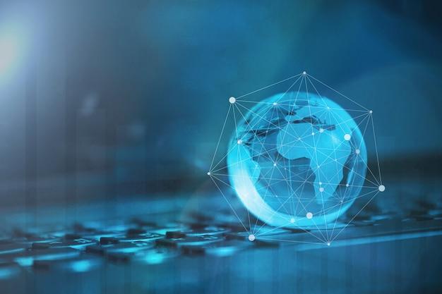 グローバル&国際的なビジネスコンセプト。世界はつながった。ソーシャルネットワークの概念 Premium写真