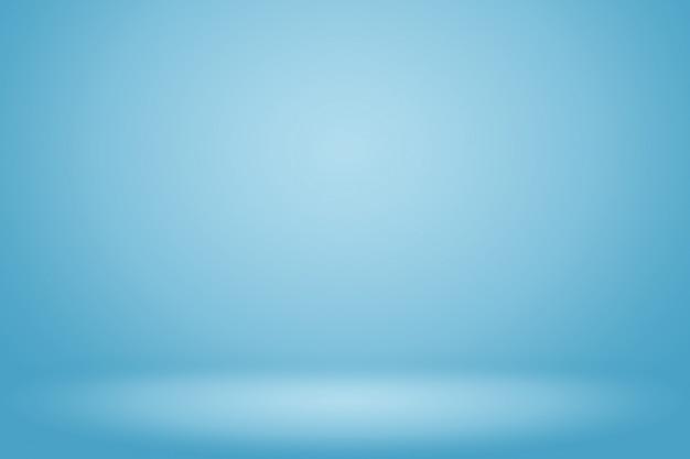 テキストと画像のためのスペースと青のグラデーションの抽象的な背景の空の部屋 Premium写真