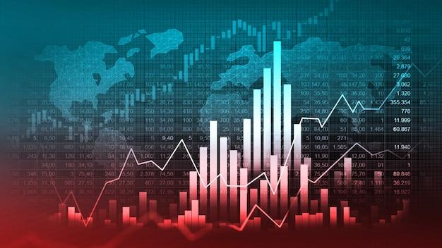 График торговли на фондовом рынке или рынке форекс в графической концепции, подходящей для финансовых инвестиций Premium Фотографии