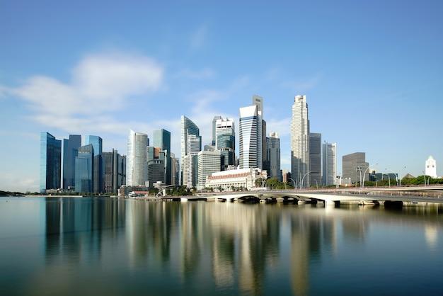 Сингапур деловой район небоскребов финансовый центр города здание Premium Фотографии