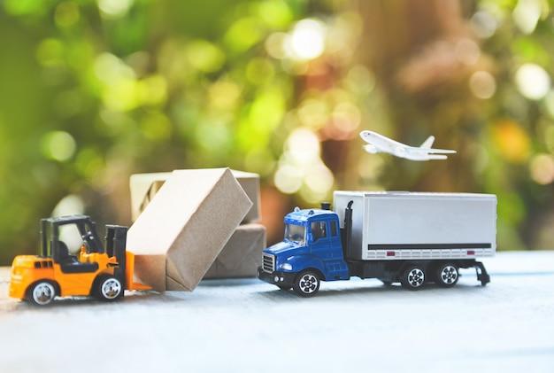 Логистика транспорт импорт импорт экспорт Premium Фотографии