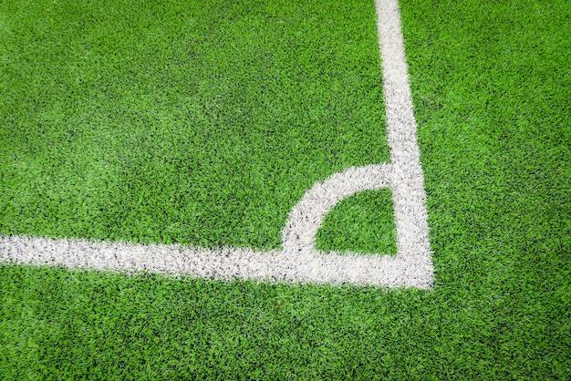 フットボール競技場フットサルまたはフットボール競技場のコーナー Premium写真