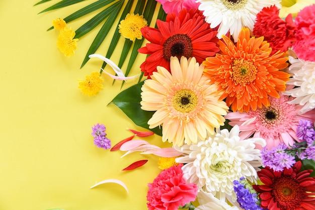 Весна красочный цветок тропическое растение гербера хризантема Premium Фотографии
