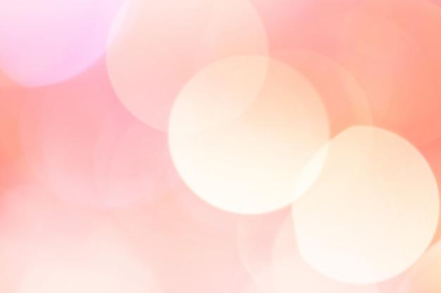 抽象的なボケライト。ピーチローズカラー。 Premium写真