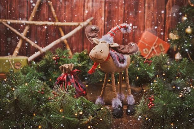 自宅でのクリスマスの装飾 Premium写真