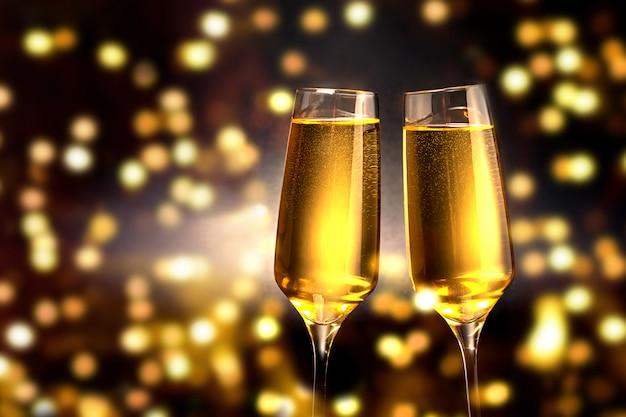シャンパンのグラス Premium写真