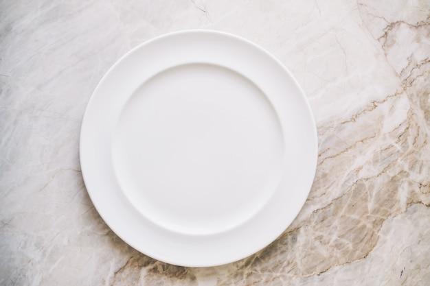 空の白い皿や皿 無料写真