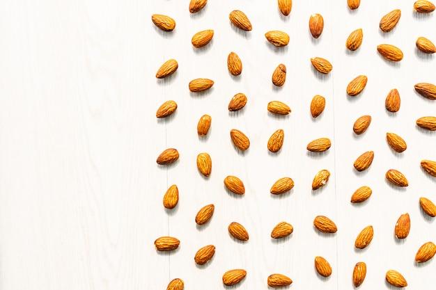 アーモンドナットの質感と模様の表面 無料写真