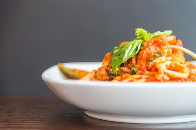 スパゲティシーフード 無料写真