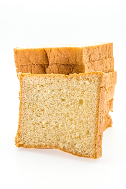白で隔離されるパン 無料写真
