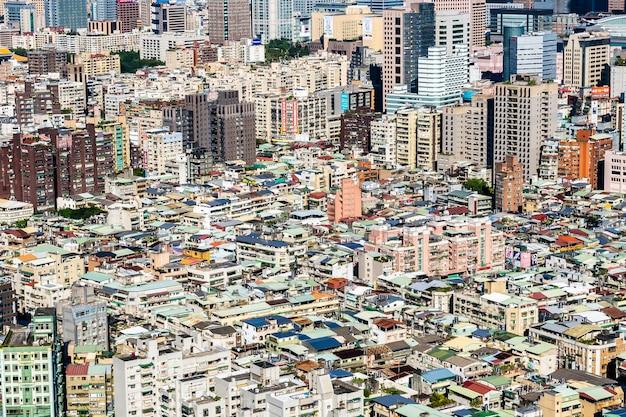 Экстерьер здания архитектуры в городе тайбэя в тайване Бесплатные Фотографии