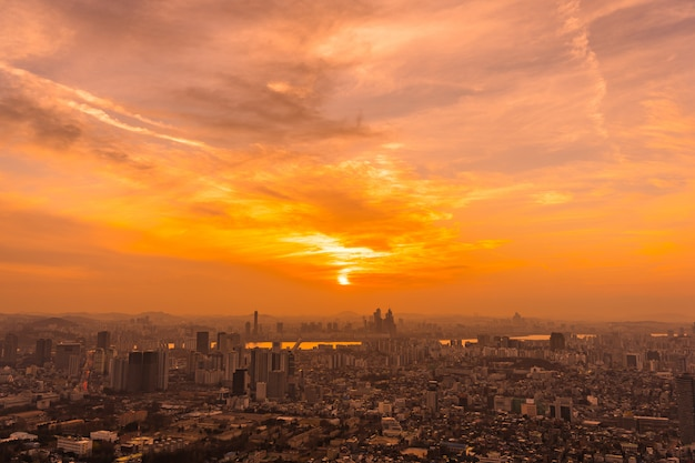 ソウル市の美しい風景と街並み 無料写真