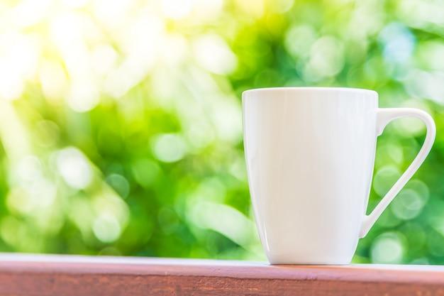 ホワイトコーヒーカップ 無料写真