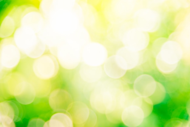 抽象的な緑のボケの背景 無料写真
