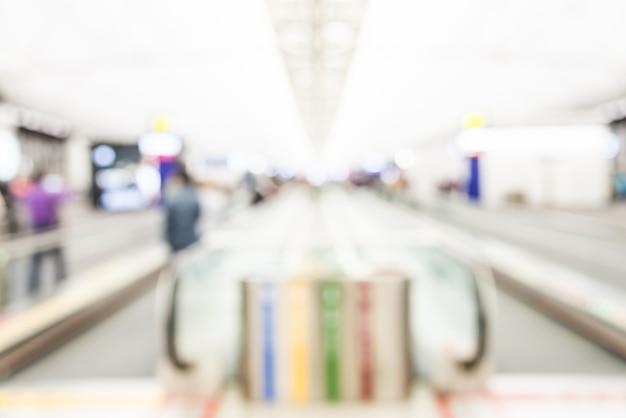抽象的なぼかし香港空港背景 無料写真