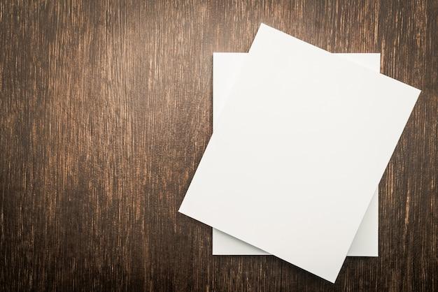 Пустой белый макет книги Бесплатные Фотографии