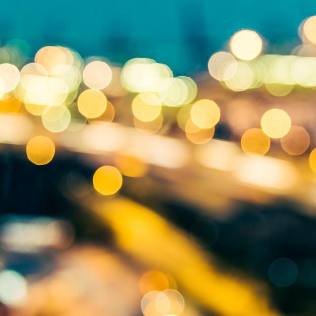 抽象的なぼかし街背景 無料写真