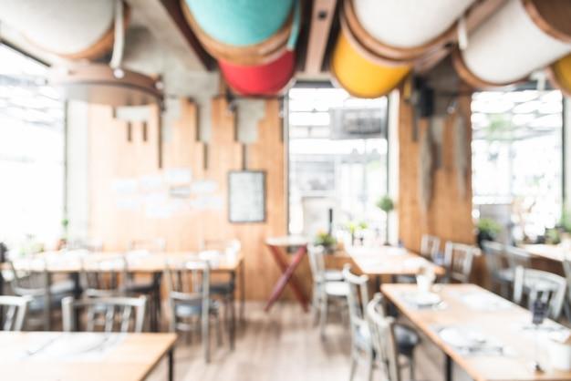 抽象的なぼかしレストランのインテリアの背景 無料写真